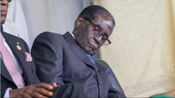 Mugabe, clearly too old for the job