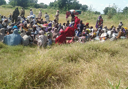 The Boko Haram women and kids rescued by Nigerian soldiers