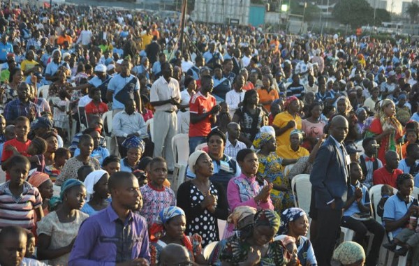 The crowd in Surulere