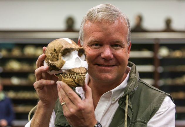 Prof. Lee Berger at the Wits University's Evolutionary Sciences Institute & Rising Star cave, Cradle of Humankind, North West