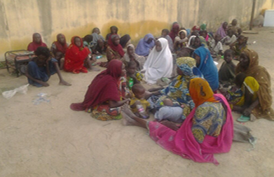 the women rescued from Boko Haram