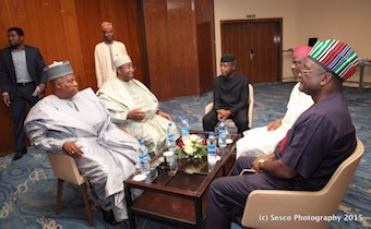 VP Osinbajo with Governor Shettima and others