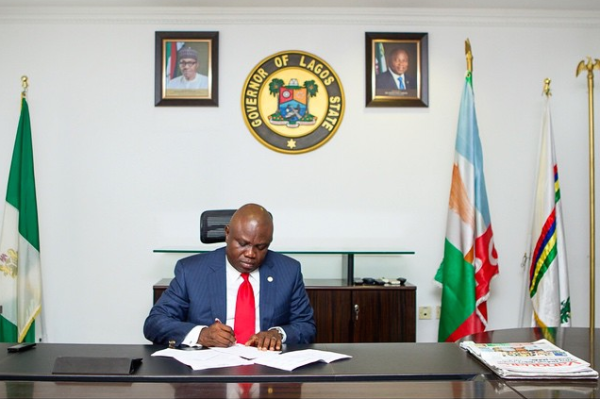 Governor Ambode in office