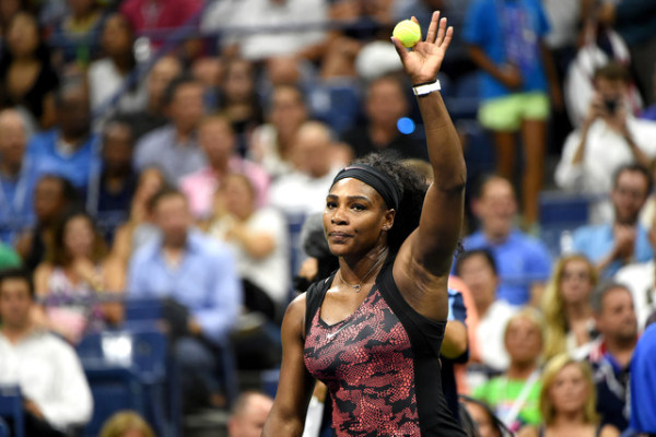 Serena Williams in action   at the USTA Billie Jean King National Tennis Center in Flushing, NY.