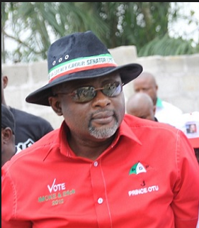 Bassey Otu: claims victory in the poll