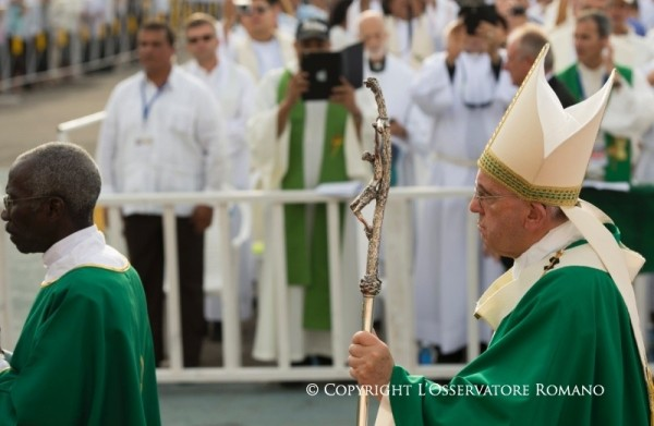 Pope Francis at the Havana Mass