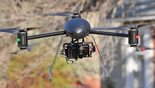 a typical drone with camera