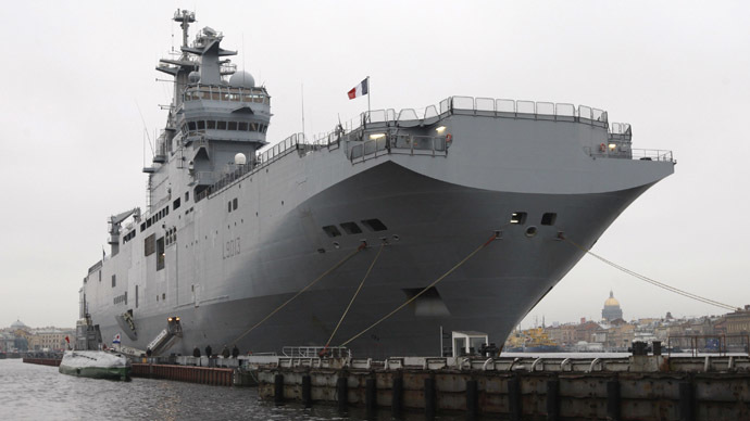 The French warship