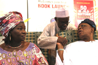 From left, Oluseyi Abegunde, Mohammed Haruna and Aremo Olusegun Osoba