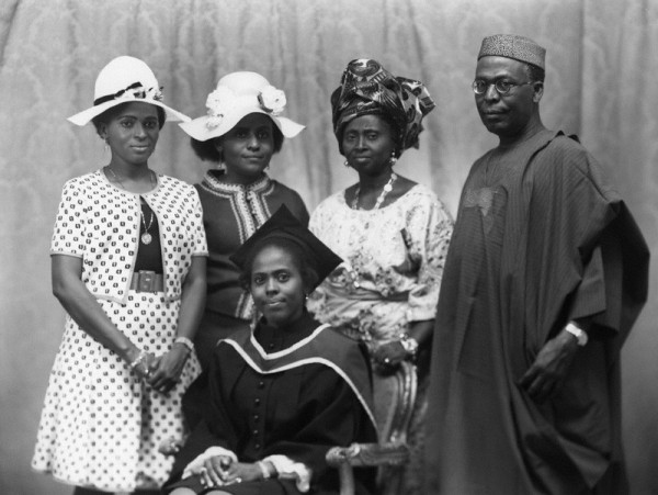 Dr Tokunbo Dosunmu,(seated) Awo, Hannah and Tokunbo's sisters