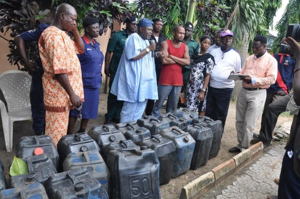 File Photo: oil thieving suspects arrested in Lagos