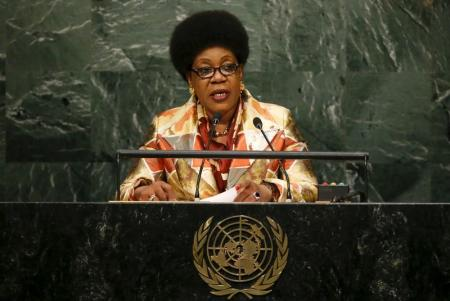 Catherine Samba-Panza, interim President of the Central African Republic at the UN. Reuters Photo