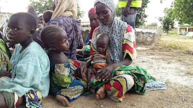 Women and kids recovered today in Boko Haram camps