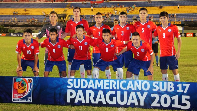 Chile U-17 team: now joins Round of 16
