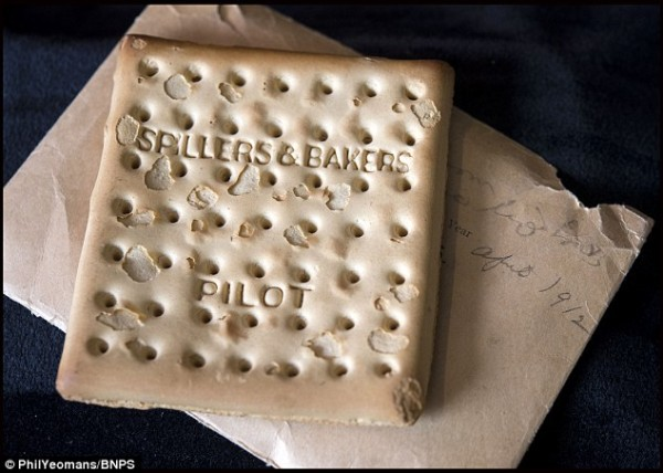 Cracker biscuit from the Titanic: sold for $23k to a Greek