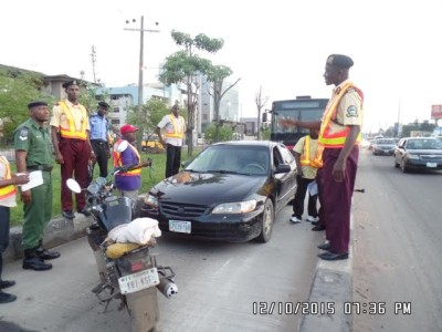An army officer's car arrested for plying BRT lane