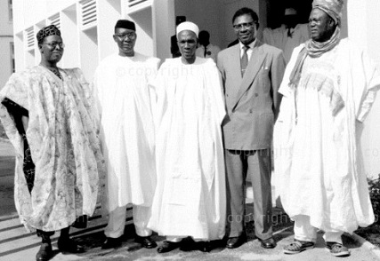 """Chief Obafemi Awolowo, Dr Nnamdi Azikiwe, Prime Minister Tafawa Balewa, Dr Emmanuel Endeley of Cameroon (before it broke off from Nigeria) and Sir Ahmadu Belllo:""""My first observation about the Buhari speech, however, is that it said nothing about the nation's founding fathers - those who fought for the independence we were celebrating. How can you celebrate the day or event without making a mention of those who made the day or event possible? This is a grievous error which must be guarded against in future. The labours of our heroes past surely must not be made to look as if they are in vain.  Buhari said one vital ingredient lacking in our match to greatness as a nation is """"unity of purpose"""". I disagree! Replace that with """"purposeful leadership.'"""""""