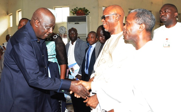 Engineer Babachir David Lawal, secretary to the Federal Government at  a thanksgiving on his appointment