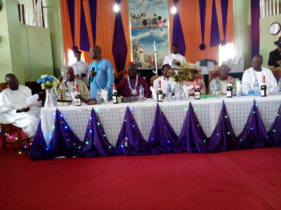 Bishop Adeyemo (middle) flanked by other dignitaries