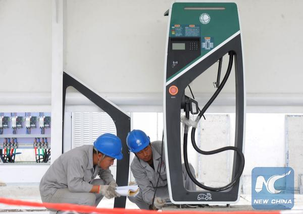 electric car charge station in China