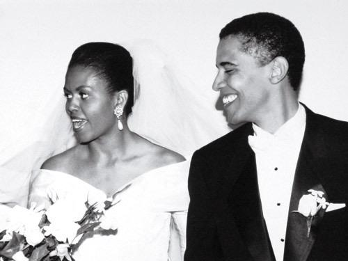 Michele and Barack Obama on Oct. 3, 1992, at Trinity United Church in Chicago.