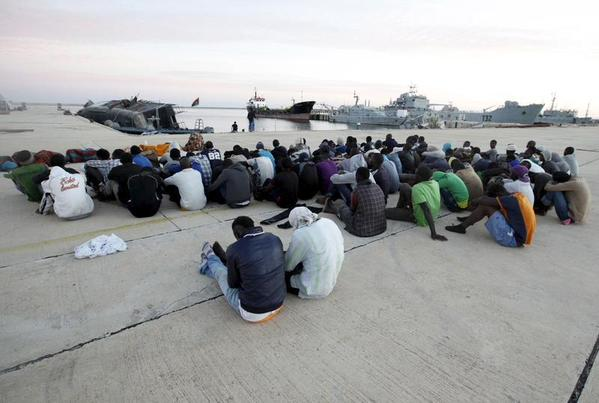 the rescued migrants