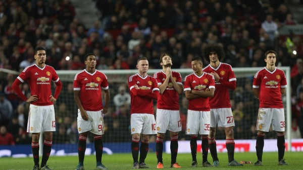 Manchester United players: booted out of Capital One Cup
