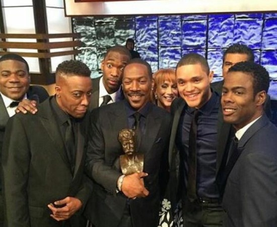 Eddie Murphy(m) with a generation of comedians he inspired
