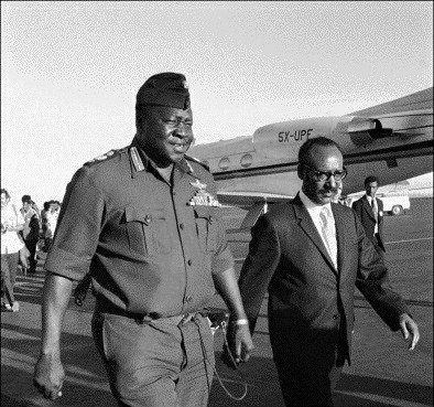 Field Marshal Idi Amin in Addis Ababa for an African Heads of State summit