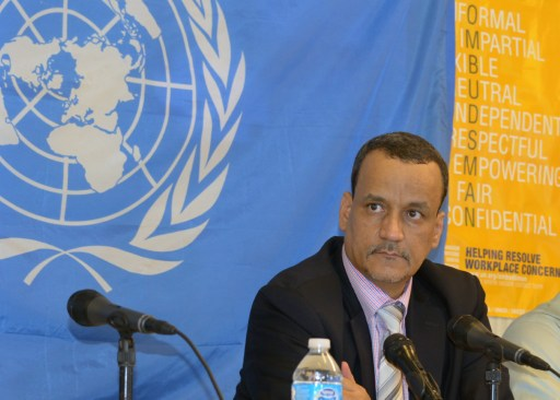 Ismail Ould Cheikh Ahmed, head of the UN Mission for the fight against Ebola  in  Monrovia, in January this year