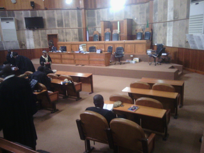 Inside the Court of Appeal after the verdict today. Photo Femi Ipaye