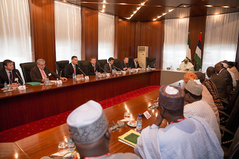 President Buhari meets with the French team