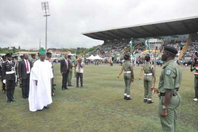 Governor Amosun at the Independence Day venue