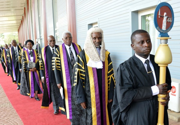 CJN  Mahmud Mohammed leads the Body of Benchers to the ceremony