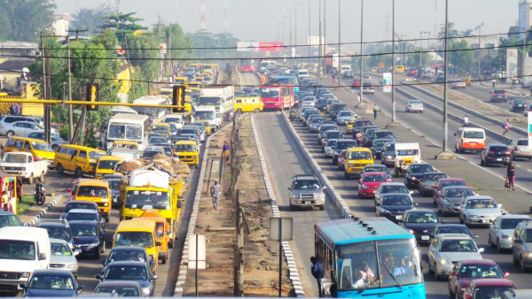 A typical traffic gridlock in Lagos