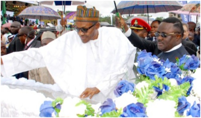 President Buhari and Gov. Ayade at the ceremony