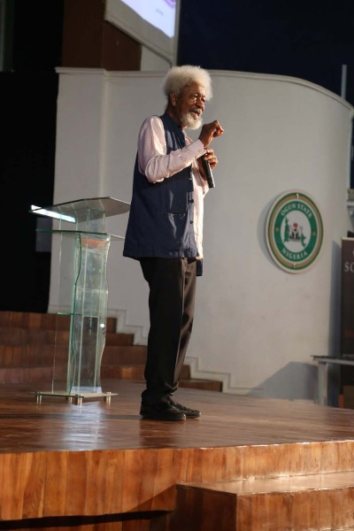 """Prof. Soyinka:  """"The main idea is to bring writers, artistes, scholars, researchers and other creative thinkers together in an optimally conducive environment for reflection and creativity, by providing them a serene retreat in which to pursue their projects.''"""