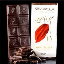 sample of chocolate bar produced by Ondo's new partner, Spagnvola Chocolatier of Spain