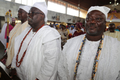 White Cap Chiefs, representing the Oba Of Lagos at the event