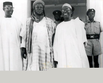"""Zik, Bello and Awolowo: """"The vast majority of the founding fathers that led the struggle for our independence were relatively young. Chief Obafemi Awolowo was 37, Akintola was 36, Ahmadu Bello was 36, Balewa was 34 and Enahoro was 27 when they led the struggle for independence after the death of Sir Herbert Macaulay. Only Nnamdi Azikiwe was over 40 (he was about 42 at the time)."""""""