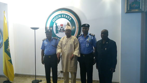 Amosun with the police chiefs