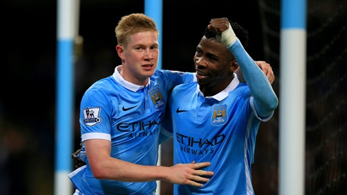 Iheanacho, right, with another team mate