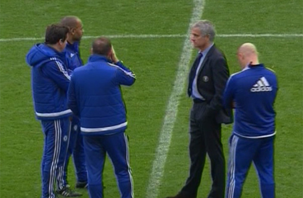Another shot of the Mourinho meeting