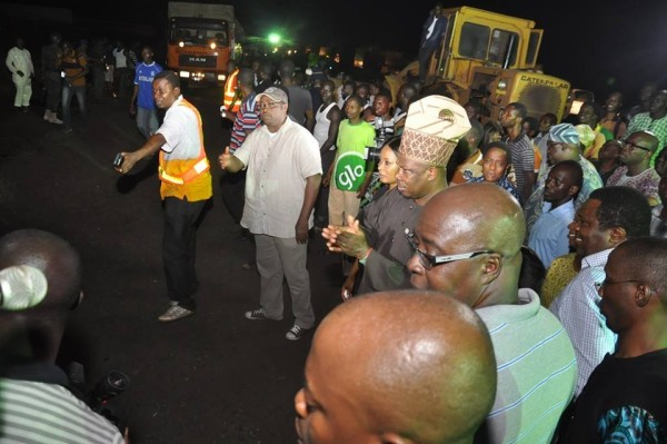 Amosun, during the inspection early Wednesday