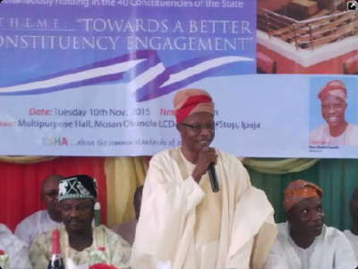 Bisi Yusuf at the town hall meeting