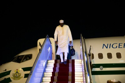 President Muhammadu Buhari has landed in Iran for the 3rd Summit of the Gas Exporting Countries forum holding on 22nd Nov 2015