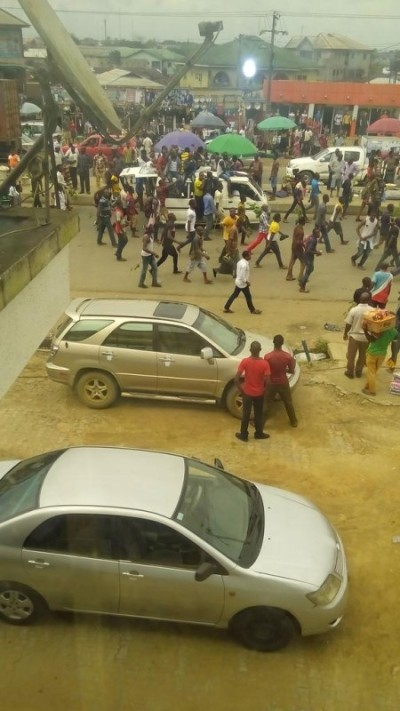File: protesters in Port Harcourt