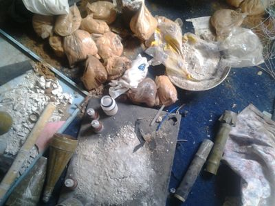 Some items recovered from Boko Haram in Bama