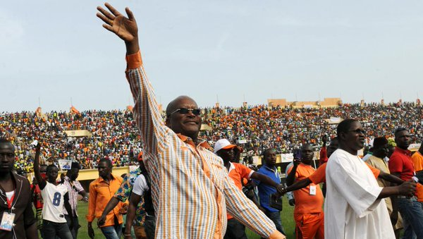 Roch Marc Christian Kabore campaigning