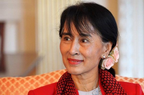 Suu Kyi: her party thrashes the junta' s party